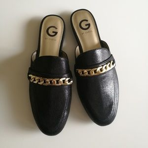 Guess leather mules slip on loafers